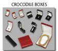 CLOSE-OUT CROCO JEWELRY BOXES