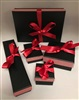 Black/Red Self-tie Ribbon Boxes