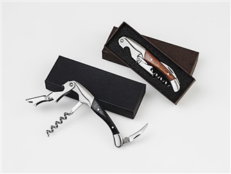 DELUXE Wood Handle 2 Step Waiter Corkscrew