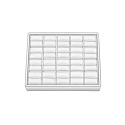 20 Ring Slot White Stackable Tray