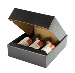 3 Bottle Box with Inserts-Black