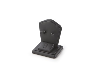 Ring/Ear/Pendant Stand Black Leatherette Stand
