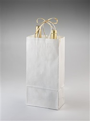 Two Bottle White Shopper