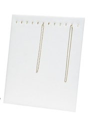 12 Hook White Leatherette Chain Pad