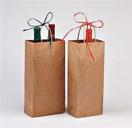Two Bottle Kraft Shopper