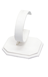 One White Leatherette Watch Display Stand