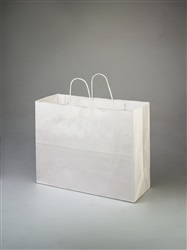 Vogue White Shopping Bag