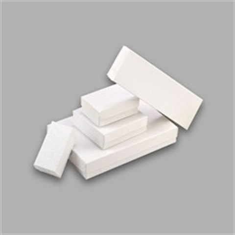 #53 White Cotton Filled Boxes