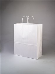 Escort White Shopping Bag