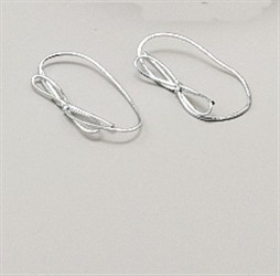 "6"" Silver Metallic Stretch Loops W/Bow"