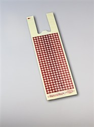 #1 Ivory Film w. Burgundy Gingham Design