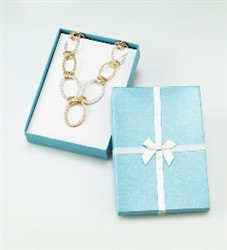 NRY-10L Metallic Teal Blue Necklace