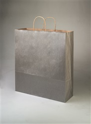Queen Metallic Silver Shopping Bag