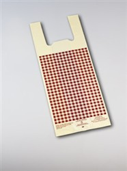 #2 Ivory Film w. Burgundy Gingham Design