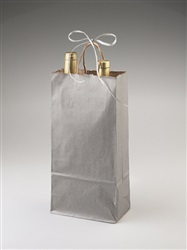 Two Bottle Silver Shopper