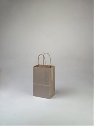 Rose Metallic Silver Shopping Bag