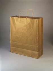 Queen Metallic Gold Shopping Bag