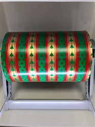 "9"" Tree Stripe Gift Paper"