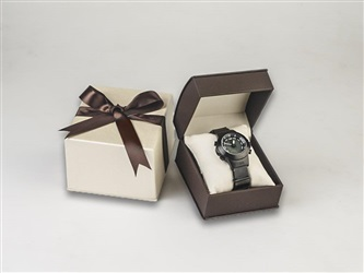 Brown /Ivory Leatherette Watch Box