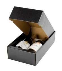 2 Bottle Box with Inserts-Black