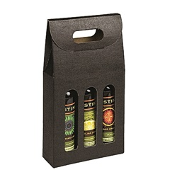 3 Bottle Carrier with Window-Black