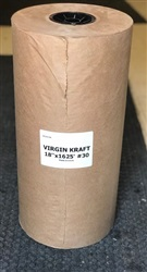 "18"" Virgin Kraft Paper Roll"