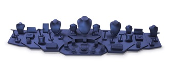 Set 6133 Navy Blue Leatherette (6 ft in length)