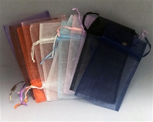 "5"" x 7"" Solid Colors Organza Pouches"