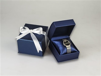 Navy Leatherette Watch Box