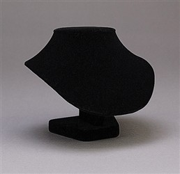 "6 1/2"" Black Velvet Necklace Display"