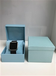 Light Blue Suede Watch Box