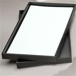 White Leather Pads for Trays (Full Size)