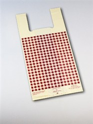 #4 Ivory Film w. Burgundy Gingham Design