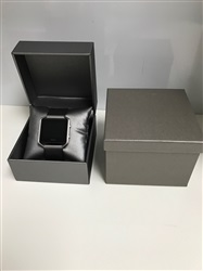 Silver Leatherette Watch Box