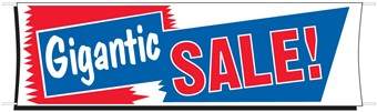 3' x 10' Gigantic Sale Cloth Banner