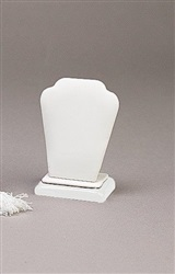 Pendant Stand White Leatherette