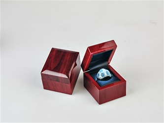 Wooden Ring Box with Light