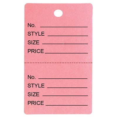 Large Coupon Tag - Light Pink