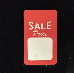 LG. Sale Price Hang Tag Red/white