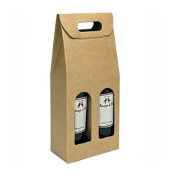 2 Bottle Carrier with Window-kraft
