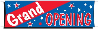 3' x 10' Grand Opening Cloth Banner