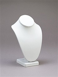 "7 1/2"" White Leather Necklace Display"